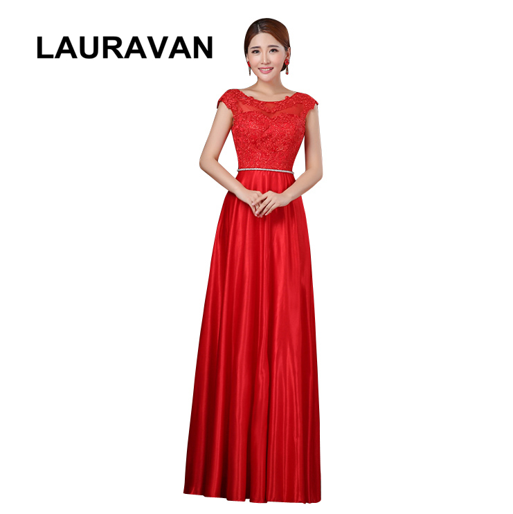 woman red lace pageant   bridesmaid     dress   womens women party sexy brides maid gown long gowns   dresses   elegant ladies gown