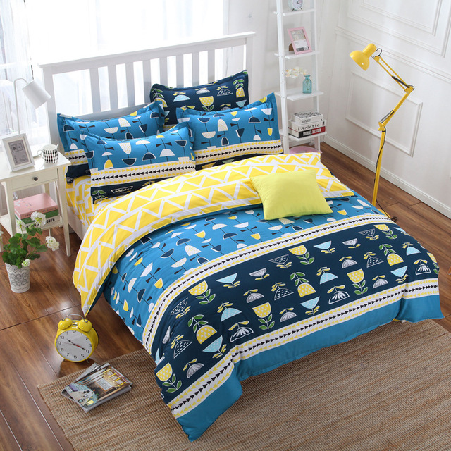 New Collection Ins Colorful Bedding Set Cute Pattern Style Reactive ...