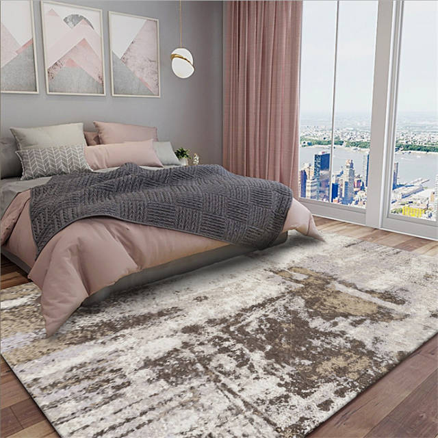 Abstract Modern Minimalist Rice Camel Grey Carpet Carpets For Living Room  Non-slip And Anti-wrinkle Floor Mats