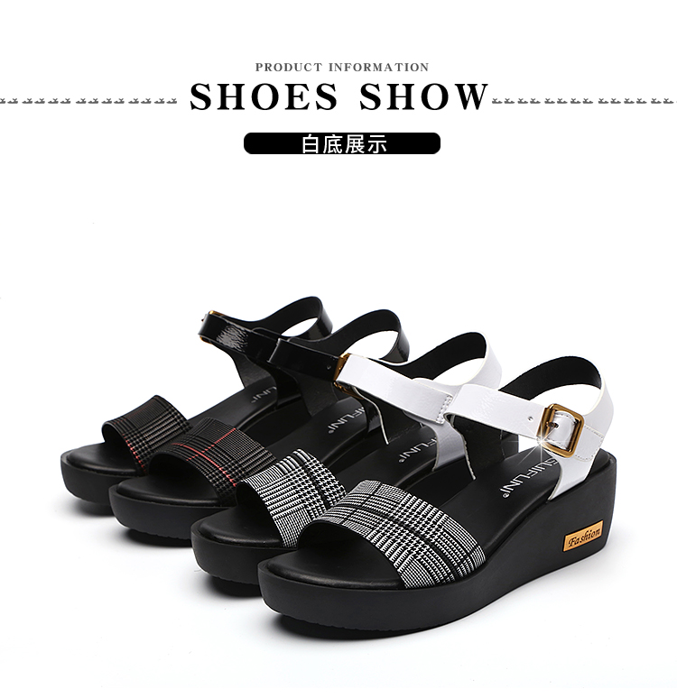 Sandals Female Summer Flat 2019 New Wild With High Heel Wedges Comfortable Non-slip Soft Bottom Pregnant Women Mother Shoes 70