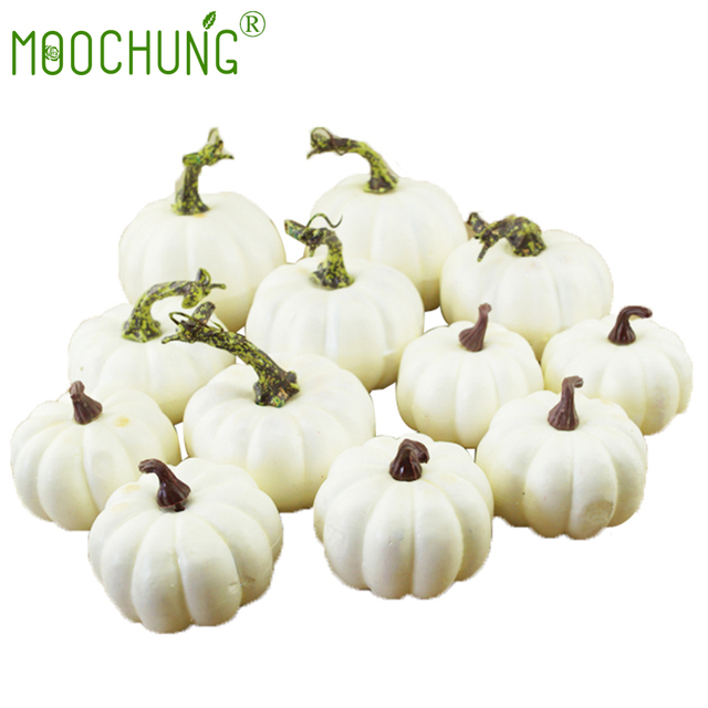 aliexpress com buy mini artificial white pumpkin decor fake