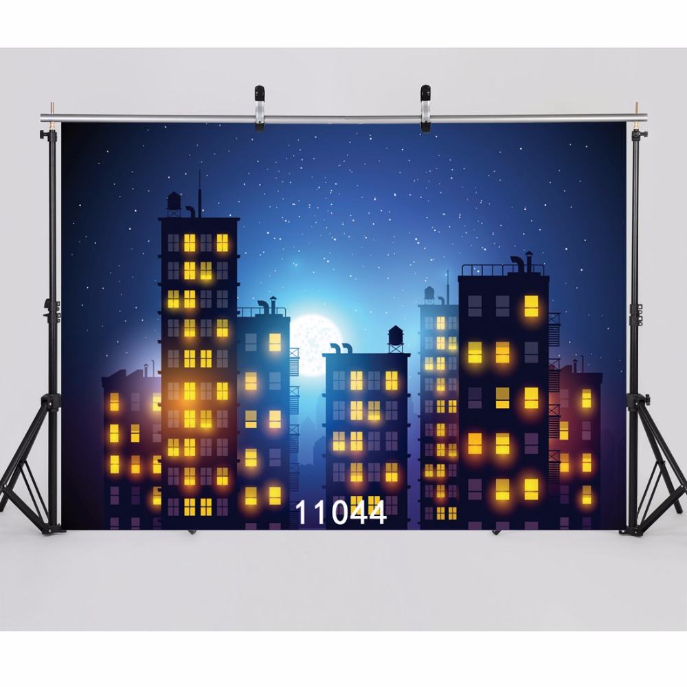 SJOLOON vinyl super hero city scene photography background baby photgraphy backdrops party background for photocall studio prop