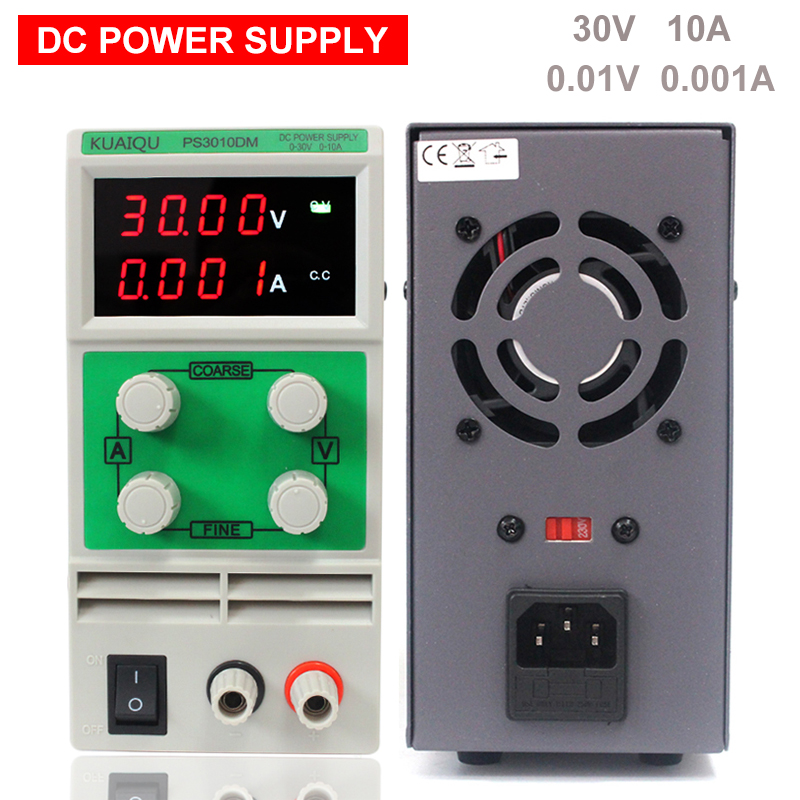 PS3010DM 115V/230V Adjustable High precision LED 4 display switch DC Power Supply protection function 30V 10A 0.01V 0.001A 30v 3a dc regulated power high precision adjustable supply switch power supply maintenance protection function kps303df