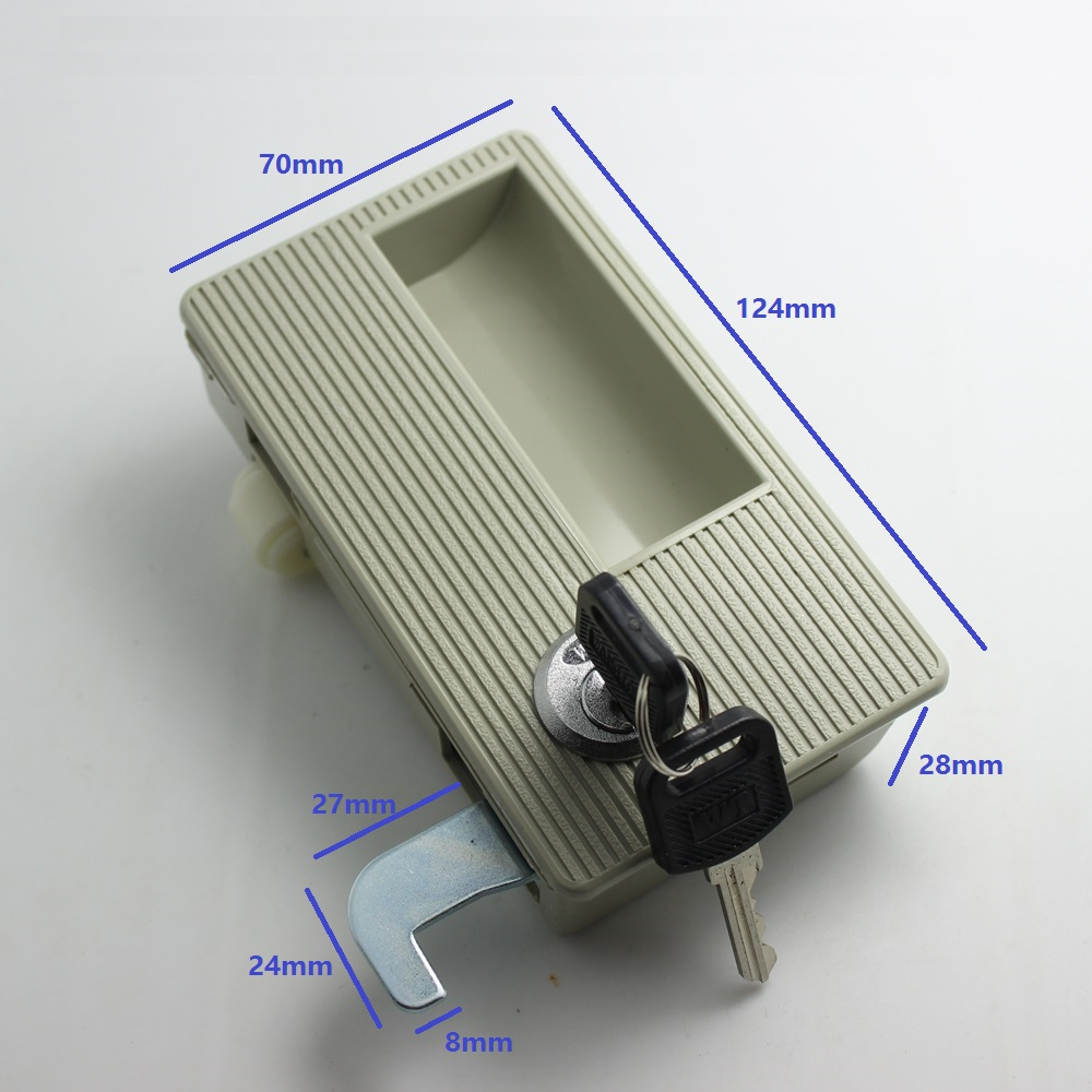 Plastic Flush Recessed Lock With Cam Hook And Roller For