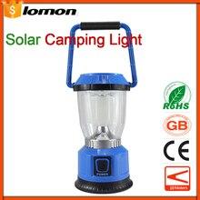 6 LED Camping Lights Solar Outdoor Sports Lantern Portable Flashlight Rechargeable Lamp USB Multifunctional Flashlight Emergency