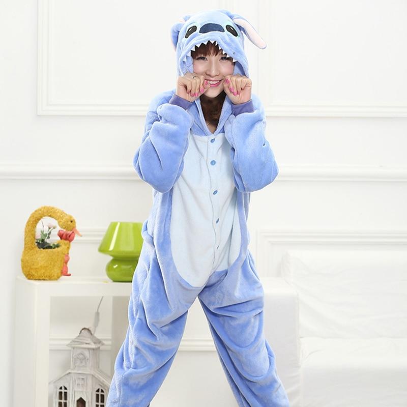 Novelty & Special Use Anime Costumes Kungfu Panda Kigurumi Onesie For Adult Animal Man Women Warm Soft Stitch Tiger Sleepwear Onepiece Winter Anime Jumpsuit Pajama