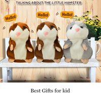 Toys For Children Talking Hamster Mouse Pet Plush Toy Dolls Speak Talking Sound Record Hamster Educational
