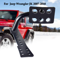 Metal Dead Pedal Left Side Foot Rest Kick Panel for 2007 2018 Jeep Wrangler JK Car Styling