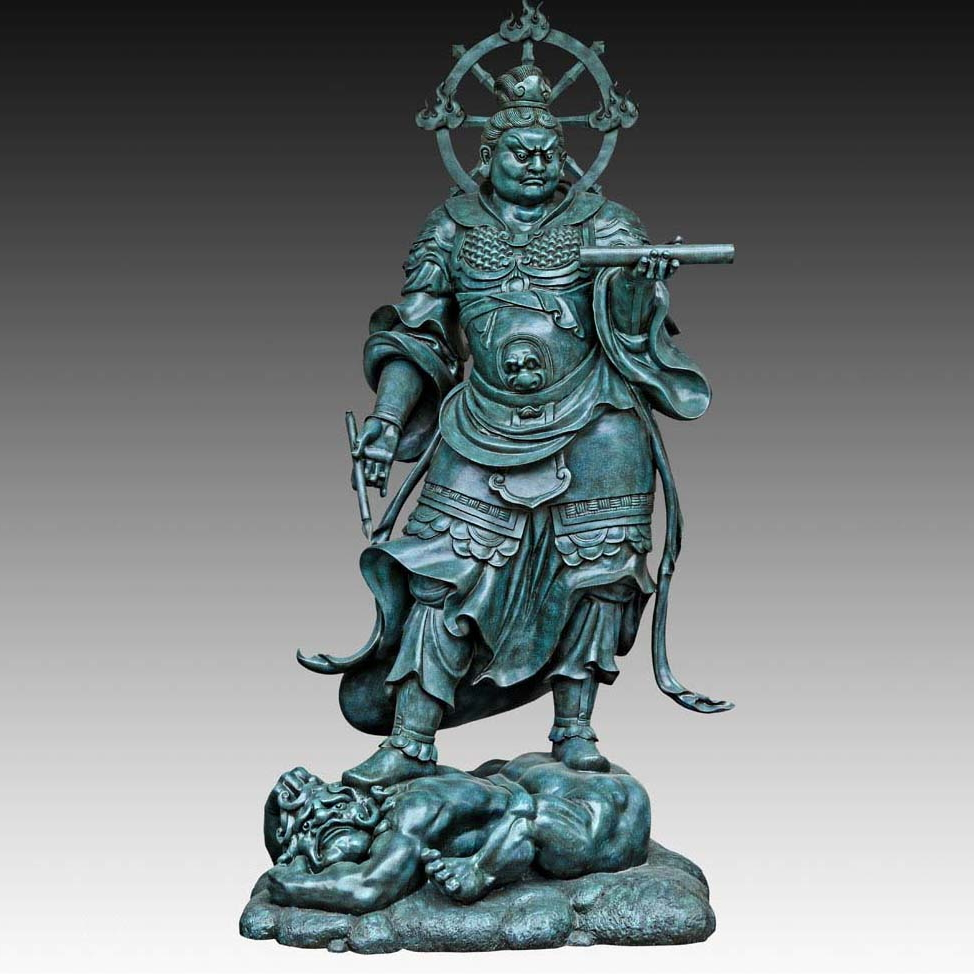 Large Bronze Sculpture Garden Decor Statue Buddhist statues Heavenly King of the Broad Eyes Temple