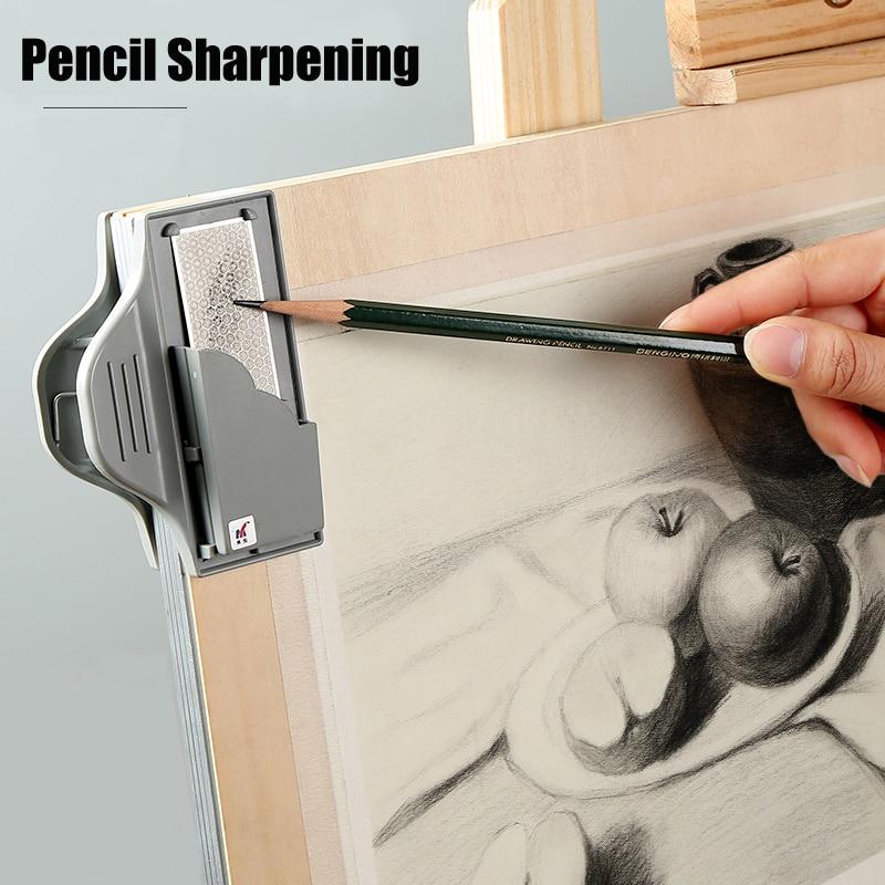 Купить с кэшбэком Professional Sketching Board Clip Sketch Drawing Charcoal Pencil Sharpening Clips Pointer Tools School Stationery Art Supplies