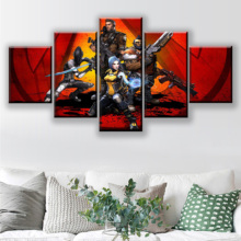 Modern Decorative Kids Room Canvas Print Picture One Set 5 Panels Game Borderlands 2 Role Painting Wall Art Poster Home Decor