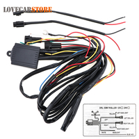 Multi Function Dimming Delay Steering Blasting Daytime Running Light Controller LED Daylight DRL Control Line Group