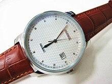 43mm Parnis Esfera Blanca gaviota 2551 Movimiento Automático Reloj