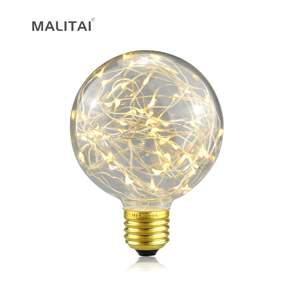 1pcs retro edison fairy light led string bulb g95 e27 110v 220v rgb led filament lamp for indoor. Black Bedroom Furniture Sets. Home Design Ideas