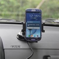 XSKEMP For IPhone X 8 Plus Fast Wireless Car Holder Stand Charger Phone Charging For Samsung
