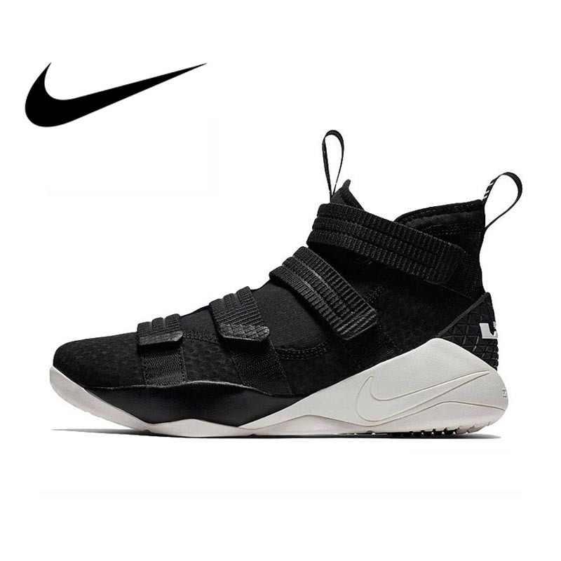 big sale 5dbcb f36e9 Original Authentic Nike LEBRON SOLDIER 11 Men Basketball Shoes Medium Cut  Sports outdoor Sneakers 2018 New