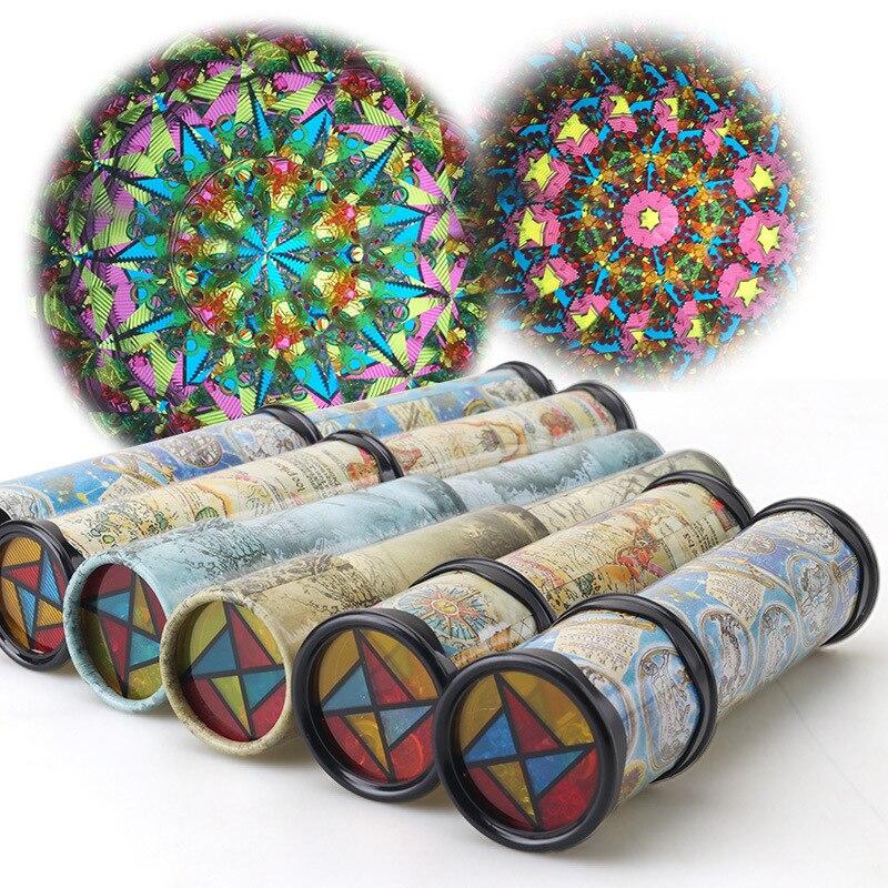 Large Rotary Kaleidoscope Magic Magic Variety Interior Kaleidoscope with Paper Children s font b Toys b