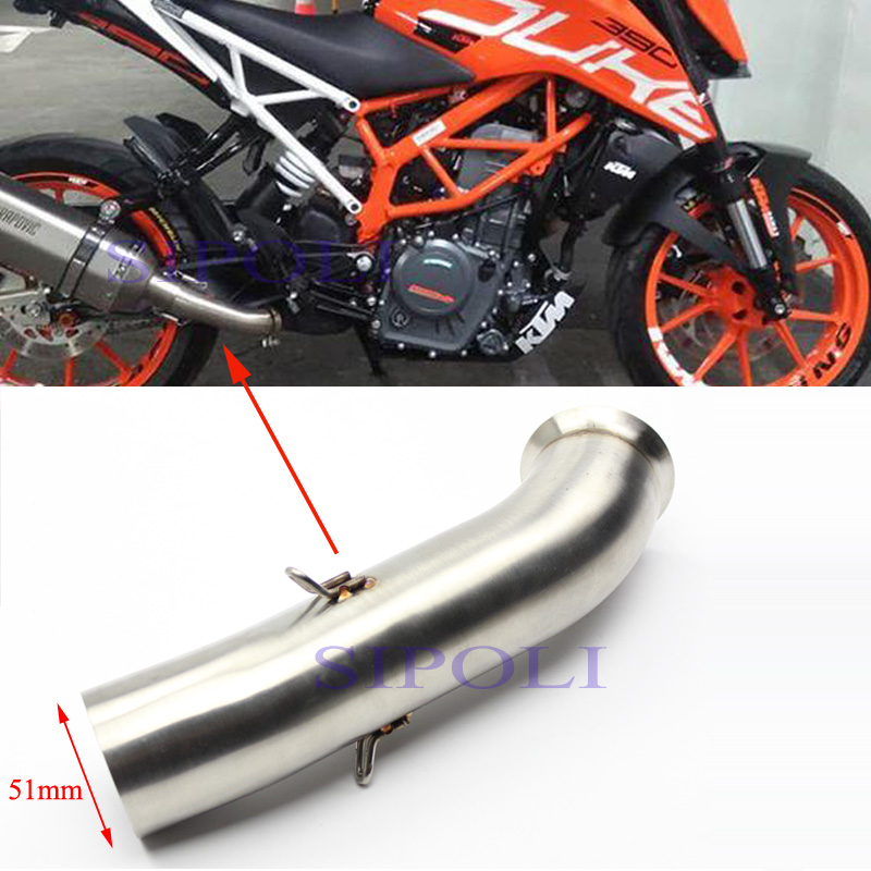Brand New Motorcycle Exhaust Muffler Silencer Middle Link Pipe For KTM Duke 390 250 Rc: KTM Rc Exhaust At Woreks.co