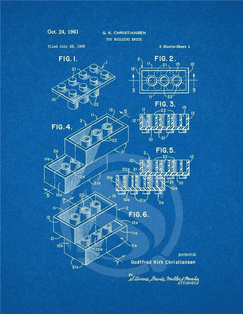 Lego toy patent art blueprint canvas fabric poster wall art fabric lego toy patent art blueprint canvas fabric poster wall art fabric nice poster print home decor living room in wall stickers from home garden on malvernweather Image collections