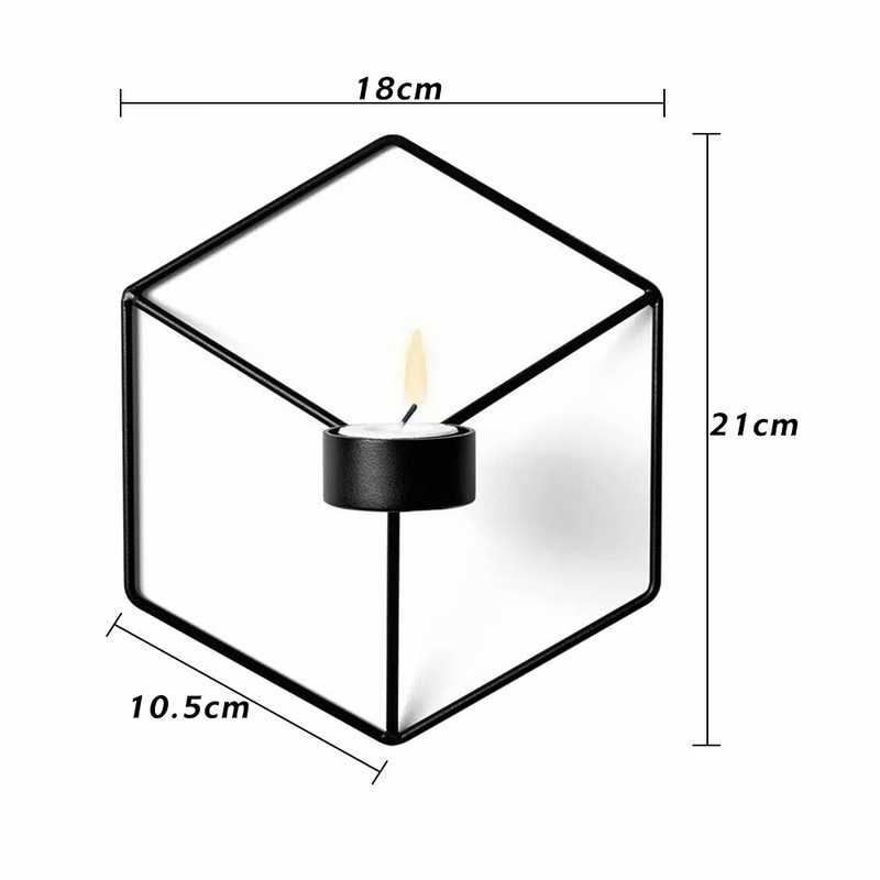 Подсвечники в скандинавском стиле 3D геометрический подсвечник 21 см металлический настенный подсвечник бра соответствующие маленькие подсвечники домашний декор