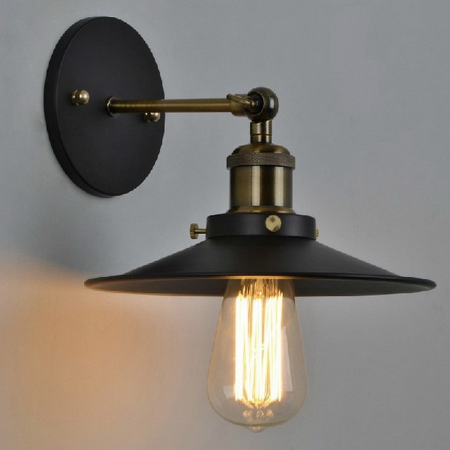 vintage plated industrial wall lamp retro loft led wall light