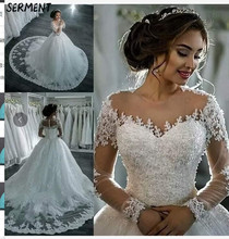 Wedding Dress 2019 New Sexy Word Shoulder Skirt Foreign Trade Water Soluble Lace Trailing