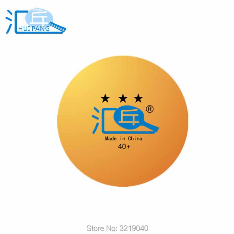 HUIPANG 3 gwiazda tabeli piłka tenisowa 40 + nowy materiał 200 sztuk piłki pingpongowe pomarańczowy/biały