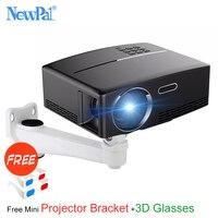 Newpal 1800 Lumens 4 k Projecteur Android 6.0 LED WiFi Vidéo Projecteur GP80 Portable Projecteurs Intelligents avec gratuit 3D lunettes