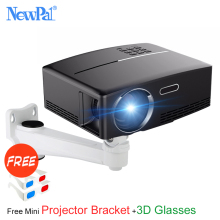 Newpal 1800 Lumens 4K Projector Android 6.0 LED WiFi Video Proyector GP80 UP Portable Smart Projectors with free 3D Glasses