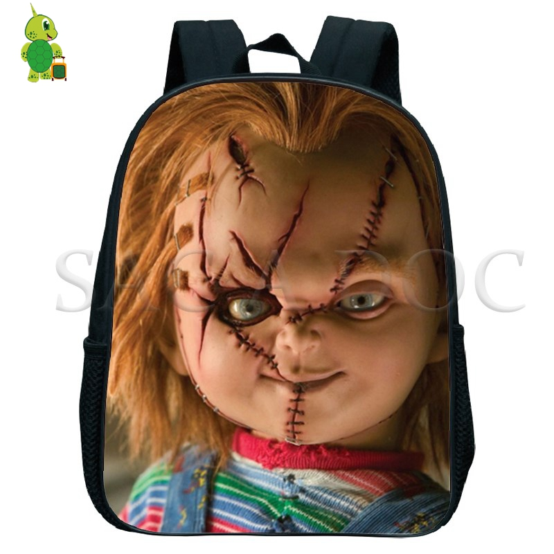Image 2 - Chucky Nightmare Backpack Small Bags Boys Girls Primary Kindergarten Backpack Children School Bags toddler backpack-in Backpacks from Luggage & Bags