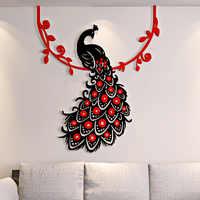 Sticker Mural 3D beau Phoenix paon Adesivos De Parede salon décoration Chambre déco Maison Autocollant Mural