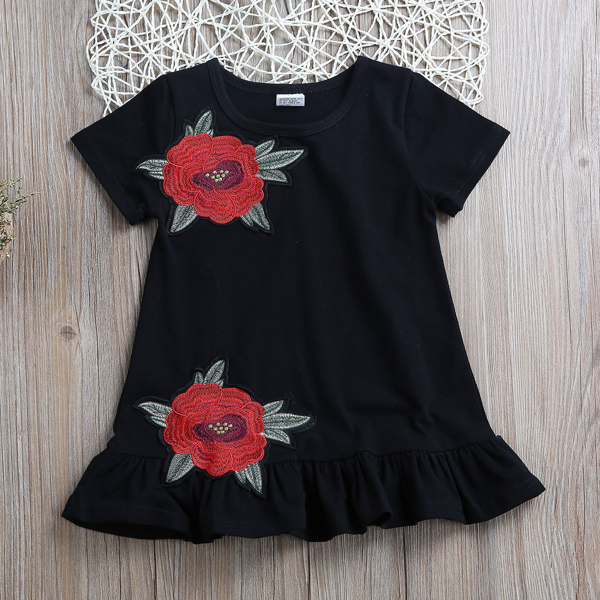 PUDCOCO Laste kleit musta värvi 3