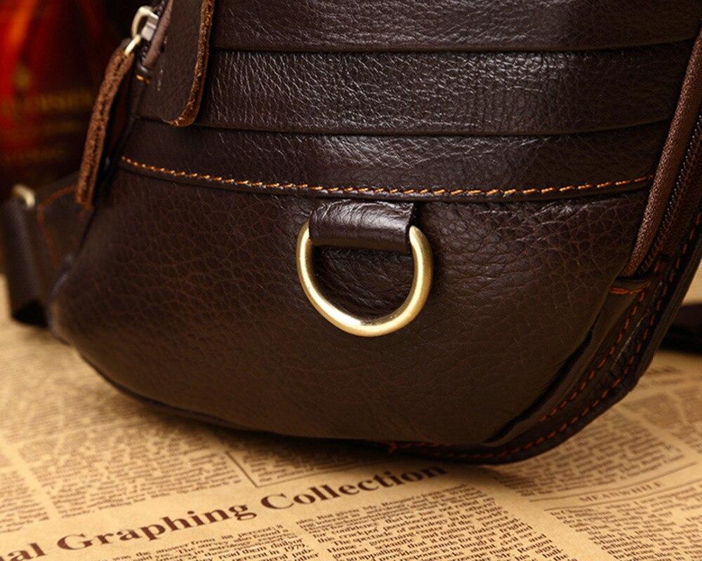 100% ægte læder ægte hud retro mænd skulderbags taske mærke - Håndtasker - Foto 6