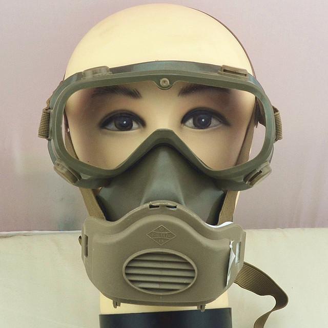 Alta calidad máscara de gas máscaras práctico conjoined soldadura mascarilla una suit brown de la cara llena del respirador