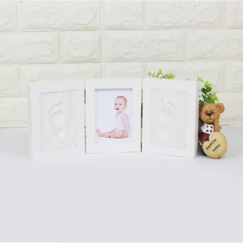 3D DIY Non Toxic Handprint Footprint Soft Clay Baby Imprint Children's Photo Frame Hand Casts Babies Home Decoration Child Gifts