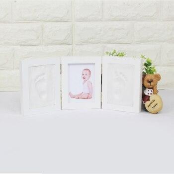 3D DIY нетоксичный отпечаток руки, мягкая глина, детский отпечаток, детская фоторамка, ручная работа, детские украшения для дома, детские подар... >> JX 2nd Toy Store