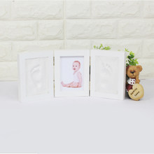 3D DIY Non Toxic Handprint Footprint Soft Clay Baby Imprint Children's Photo Frame Hand Casts Babies Home Decoration Child Gifts(China)