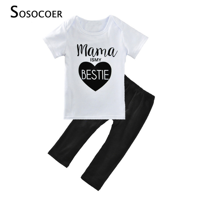 4f04ae005 SOSOCOER Summer Baby Girl Clothing Sets 2017 New Brand Mama Is My ...