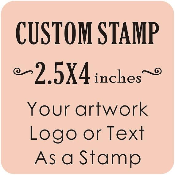 Custom Logo Wedding Stamp Business Card Return