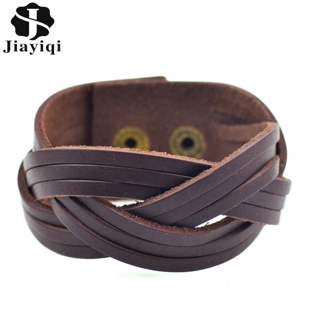 Jiayiqi Vintage Brown Braided...