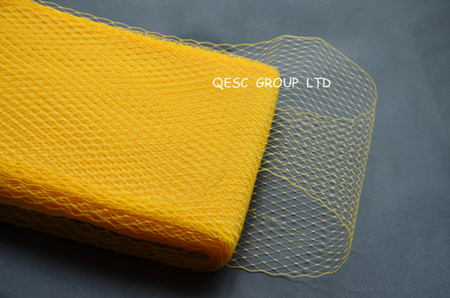 Новая птичья клетка материал для millinery sinamay шляпа церковная Шляпа Чародей, 10 ярдов/партия, серебряный цвет - Цвет: bright yellow
