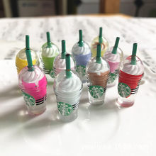 6PCS1/6 Scale Dollhouse Miniature Straw Coffee Cup for Dollhouse Decor DIY Ice-cream Drink Pretend food for 1/6 Doll Accessories(China)
