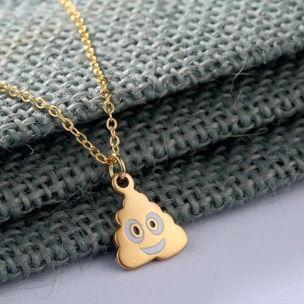 Poo Poop Shit Emoji Necklace Women Funny Gift Chokers Pendant Steampunk Jewelry Best Friends Necklace For Girls