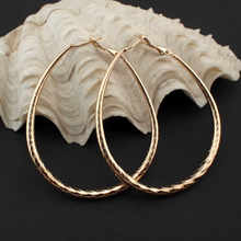 MANILAI Fashion Female Jewelry 60*50mm Faceted Alloy Hoop Earrings Costume Jewellery Statement Earrings Big Women Earring(China)