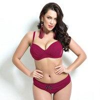 Push Up Bikinis Women Summer Bathing Suit Push Up Biquini Plus Size Super Large Cup Women