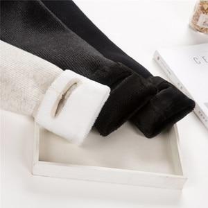Image 2 - Outono/inverno mais de veludo grosso leggings alta qualidade moda confortável legging calças casuais cor sólida leggings tt3311