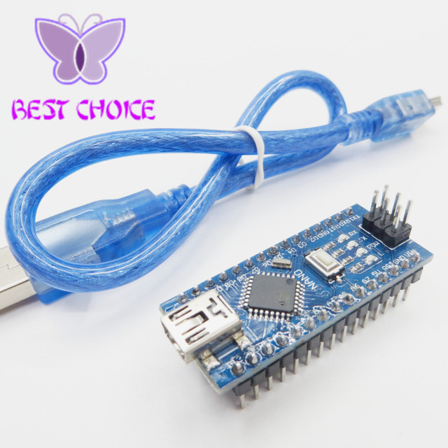 Freeshipping ! Nano 3.0 controller compatible with arduino nano CH340 USB driver with CABLE NANO V3.0 ATMEGA328P XTWduino