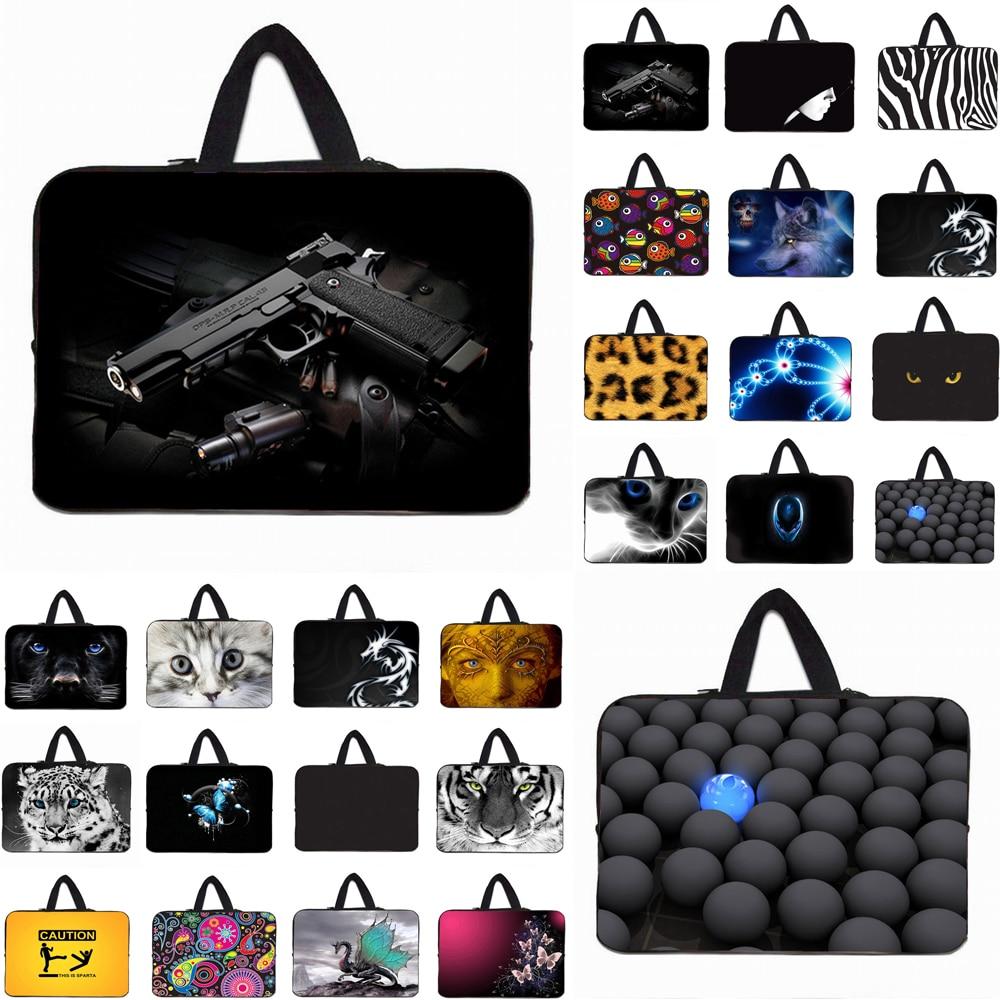Viviration Zippers Portable Women Mens Handle 10 12 13 14 15 17 Laptop Liner Sleeve Bag Neoprene Carry Cover Cases Bolsas Pouch