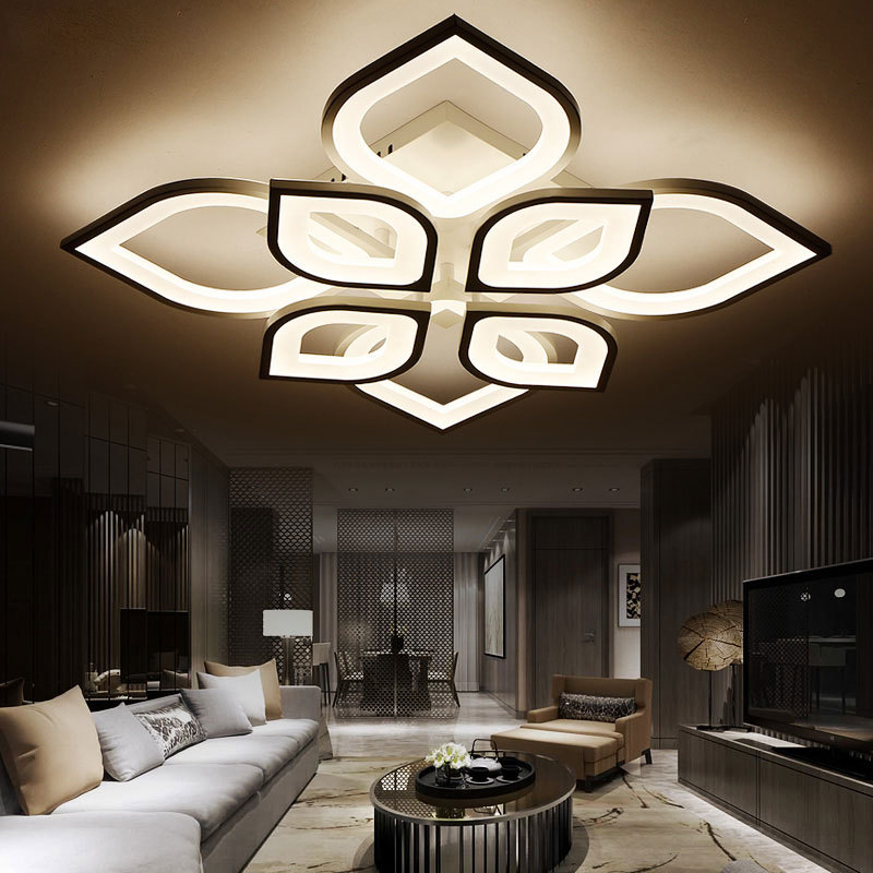 Us 76 57 52 Off Modern Acrylic Design Ceiling Lights Bedroom Living Room 90 260v White Lamp Led Home Lighting Light Fixtures In