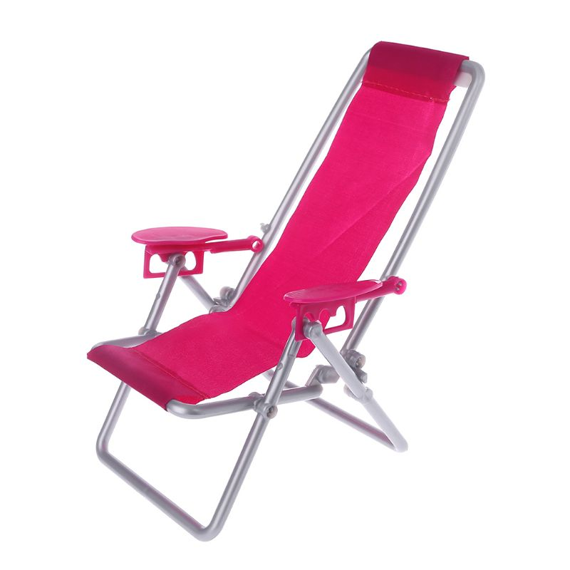 Folding Chair Doll Beach Lounger Dollhouse Furniture Cute Miniature Simulation Living Room Decoration House Game Gifts For Kids